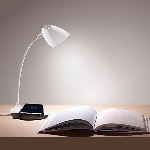 Carl Artbay Qi chargement sans fil lamps chargeurs sans fil LED Lampe de bureau avec chargeur sans fil Qi pour iPhone X iPhone 8, avec sortie de