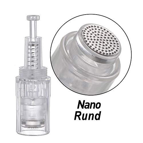 10 STÜCKE Rund Nano Pin Elektrische Derma Pen-nadeln Einstellbar Needle Für Elektrische microneedling Dermapen Nadelpatrone(Rund Gewinde) -