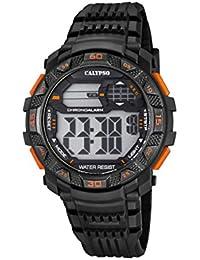 95f411e361ad Calypso Hombre Reloj Digital con Pantalla LCD Pantalla Digital Dial y  Correa de plástico en Color