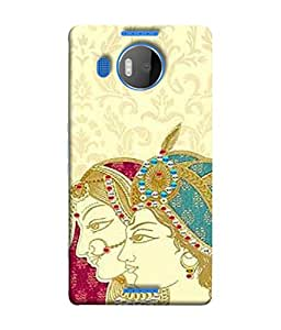 Fuson Designer Back Case Cover for Microsoft Lumia 950 XL :: Microsoft Lumia 950 XL Dual SIM (Rajasthani Design Painting Couple Art Lover Girls)