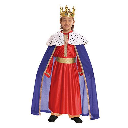 VIVING Costume Re Mago rojo10–12anni