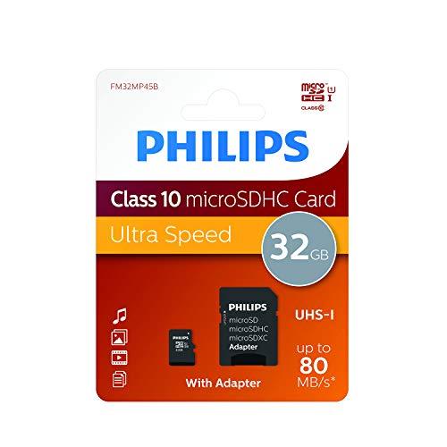 Philips-Micrsosdhc Tarjeta De 32 GB
