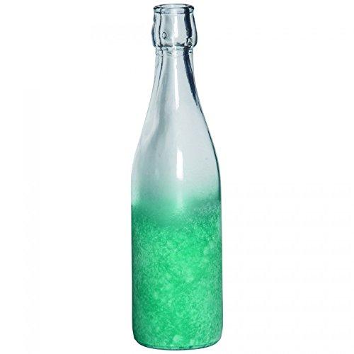 Ptmd Decorazione Bottiglia Malin, per punti o appendere turchese trasparente, H27cm