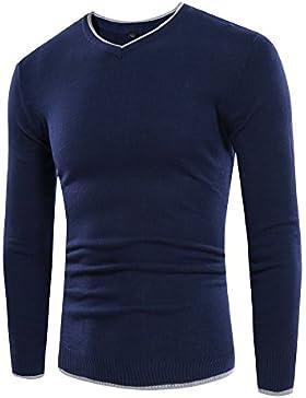 Il codice maglione maglia uomini maglione di copertura versione coreana di scollo a v-e-collo casual, Navy serie L