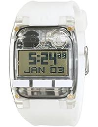 Nixon Damen-Armbanduhr Comp All White Digital Quarz Silikon A408126-00