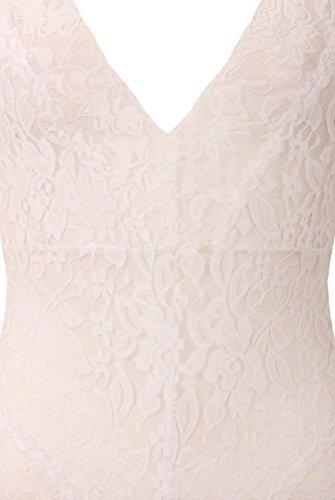 Mesdames Floral Lace Print Bodysuit Leotard Cross Retour Straps EUR Taille 36-40 De Blanc