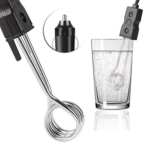 RUNGAO Tragbar 12V KFZ Tauchsieder Wasserkocher Heizstab Tee Kaffee Wasser Elektrische Heizungfür Reise Camping