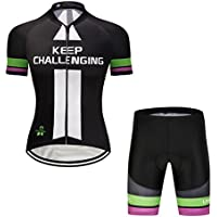logas Road Cycling Jersey Set Short Sleeve Jersey   Cycling Shorts 3D  Padded Breathable Quick Dry caecfa734