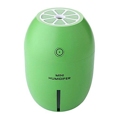 GGG?180ml USB Rechargeable Humidificateur diffuseur d'air Brume Fraîche Portable Lumière de Nuit Anti-Sèche Purificateur d'air Mini humidificateur vert