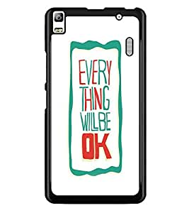 PrintDhaba Quote D-4241 Back Case Cover for LENOVO A7000 (Multi-Coloured)