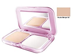 Maybelline Clear Glow All in One Fairness Compact Powder 9gm with Ayur Product in Combo (02-Nude Beige)