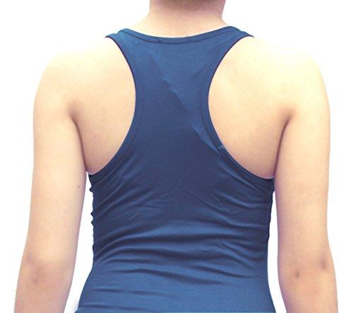Débardeur dos nageur pour femme, tailles 34/36/38, plusieurs couleurs disponibles Noir - Blau-Jeans
