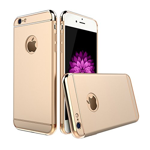Coque iPhone 6/6s/7 Plus,Coque Ultra-mince Non Slip Surface Antichoc & Electro Placage Texture Housse de Protection Étui