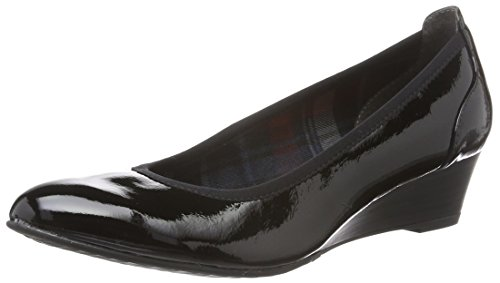 Tamaris Damen 22304 Pumps Schwarz (Black Patent 018)