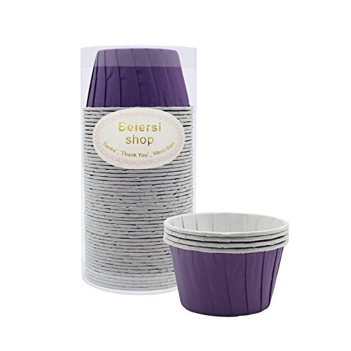 Kuchen Tasse Cupcake Fällen Liner Muffin Hohe Temperaturbeständige Backen Tassen (Lila) ()