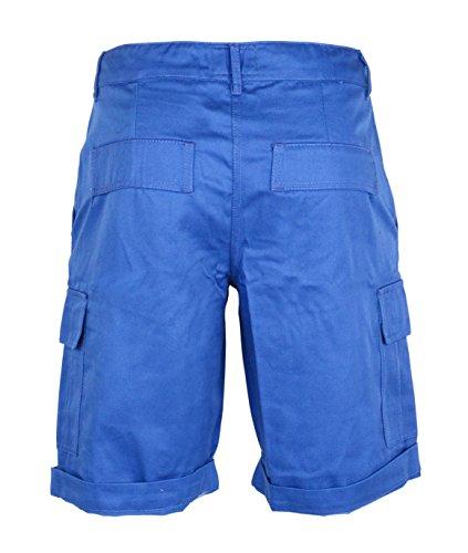 Femmes Coton Combat Toile Chino Cargaison Shorts Taille 6 8 10 12 14 16 Bleu roi