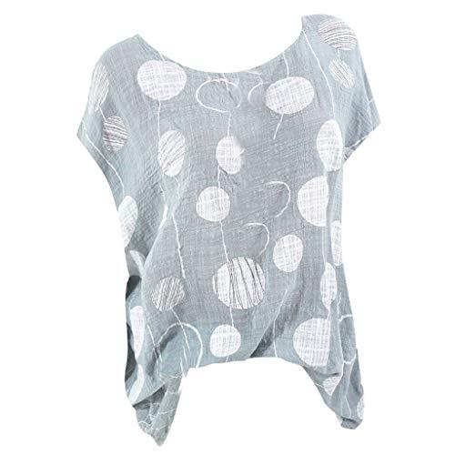 B-commerce Plus Size Shirt - Frauen Casual Dot Print Kurzarm Bluse Lose Plissee Nette Sommer T Tops Bluse T-Shirt