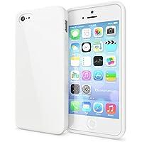 delightable24 Protezione Cover Case in Silicone TPU Jelly per Smartphone APPLE IPHONE SE / 5 / 5S - Bianco