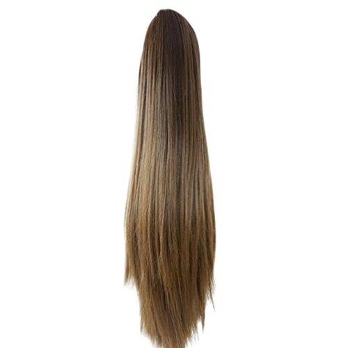 Trada Perücke haarteile, Frauen Mode Klaue Clip Lange Gerade Pferdeschwanz Haarverlängerungen Perücke Haarteil Haarteile Echthaar Hair Haarteil Haarverdichtung (D)