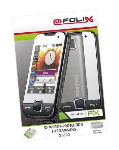 atFoliX Spiegelfolie für Samsung S5600 - FX-Mirror: Spiegel Schutzfolie vollverspiegelt! Höchste Qualität - Made in Germany!