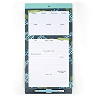 Boxclever Press Menu & Shopping Magnetic Fridge List. A Magnetic Notepad with Shopping List pad and Weekly menu Planner with a Clip-on Pencil and Pocket for Receipts and vouchers