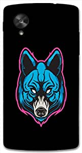 Outstanding 3D multicolor printed protective REBEL mobile back cover for Nexcus-5 - D.No-DEZ-1509-nx5