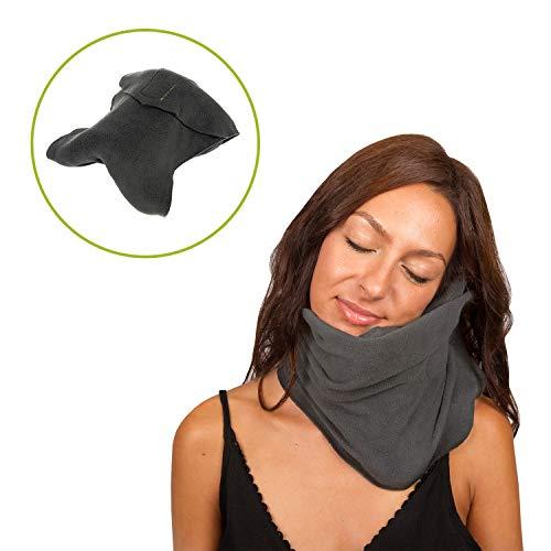 Maverick - Almohada de viaje cervical viscoelástica y cómoda, ideal para el avión o el coche. Cojín reposacabezas de viaje para cuello y cervicales que cuida de tu salud. Calidad premium