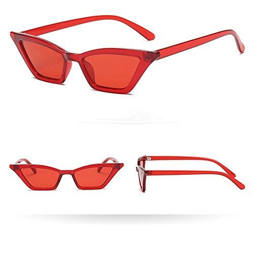 Makefortune Sonnenbrille, Frauen-Weinlese-Katzenaugen-Sonnenbrille-Retro- kleiner Rahmen UV400 Eyewear-Mode-Damen