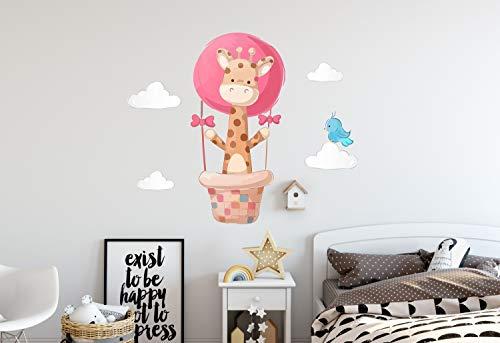 Wandtattoo Jungen M?dchen Baby Wandtattoo Hot WallDecal Dekor Giraffe V?gel Wolken Luftballons Herz Kinderzimmer Dekor Wandkunst Niedlich