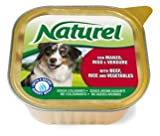 Alimento completo para perro con ternera, arroz y verduras 300 gr. Pack 3 tarrinas