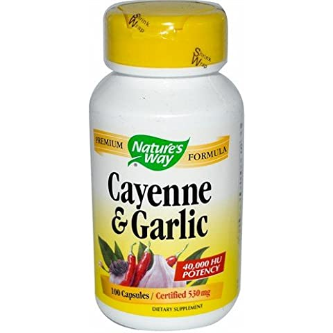 NATURE'S WAY Cayenne Garlic 100 CAPS by Nature's Way