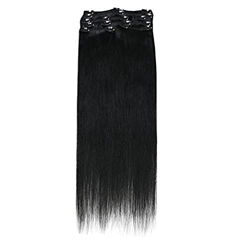 SUNMAY Remy Clip in Human Hair Extensions - Full Head