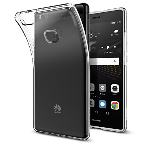 Huawei P9 Lite Hülle, Spigen® [Liquid Crystal] Ultra Dünn [Crystal Clear] Transparent Soft-Flex Handyhülle / Bumper-Style Premium-TPU Silikon / Perfekte Passform / Durchsichtige Schutzhülle für Huawei P9 Lite Case, Huawei P9 Lite Cover - Crystal Clear (L05CS20298)