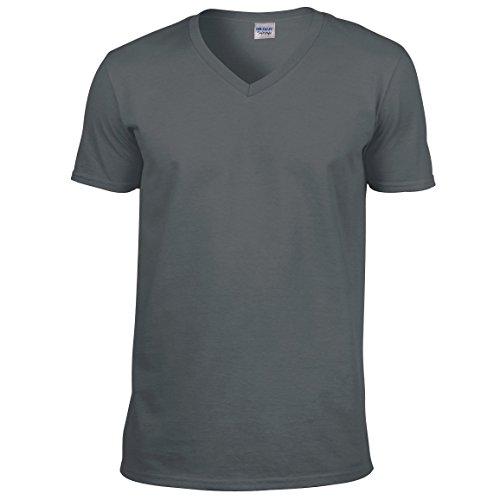 T-shirt Gildan Softstyle con scollo a V GD010 Charcoal