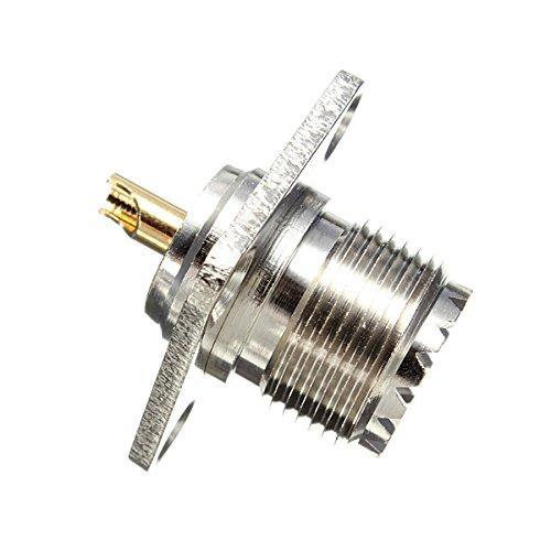 farwind, confezione da 2UHF femmina Jack 4foro 25mm flangia a saldare Montaggio a pannello RF adattatore connettore - Uhf Jack Pannello