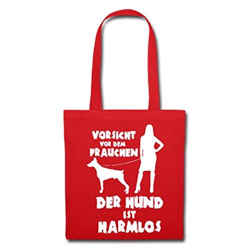 Dobermann: Vorsicht vor dem Frauchen – der HUND ist HARMLOS Rot