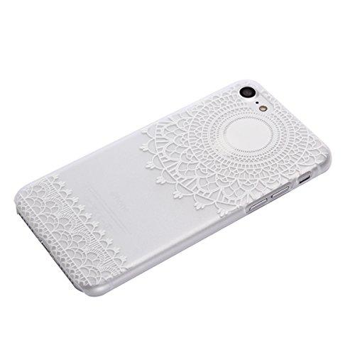 """MOONCASE iPhone 7 Plus Coque, Premium Durable Ultra-Mince Transparente Housse Étui de Protection avec Motif Blanc [Anti-rayures] Case Cover pour iPhone 7 Plus 5.5"""" - Clear 04 Clear 03"""