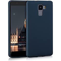 kwmobile Coque Huawei Honor 7 / Honor 7 Premium - Coque pour Huawei Honor 7 / Honor 7 Premium - Housse de téléphone en Silicone Bleu foncé Mat