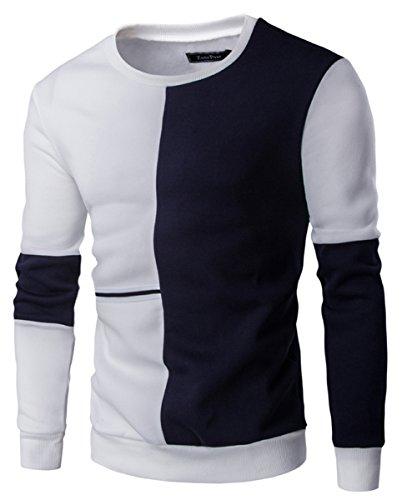 YFFUSHI -  Felpa  - Uomo Black-White L