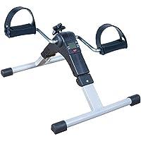 Máquina de ejercicio de pedal, plegable, con pantalla digital y resistencia ajustable