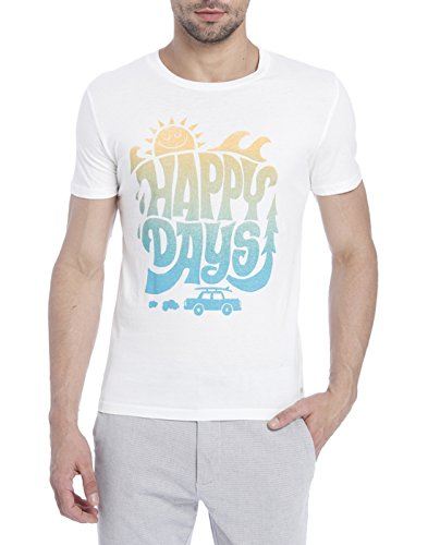 Jack & Jones Men Casual T-Shirt 5713026537560_Cloud Dancer_S  available at amazon for Rs.397