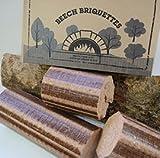 Normandía briquetas de madera de haya 12kg estufa y Pizza horno de leña, muy caliente y de larga duración de la combustión
