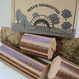 Normandy Beech Briquettes �12KG Stove & Pizza Oven Firewood, Very Hot & Long Burning Compressed Logs. 100% Natural Beech - Eco Friendly Fuel