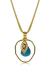 Miranika Gold Plated Pendant for Women (Blue)(C1D1ASC)