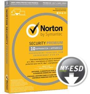 Norton Security Premium + Backup 25 GB | 10 Geräte | 3 Jahre | ESD | Download | E-Mail