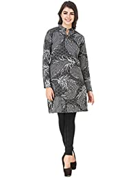 Komal Trading Collection Casual Solid Women Grey Stylish Casual Wear Woolen Kurtis So Soft ,Thin & Also Warm .