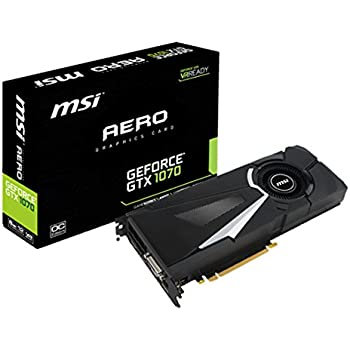 MSI V330-011R - Tarjeta gráfica NVIDIA GeForce GTX 1070 (GDDR5, PCI Express 3.0, 7680 x 4320p)