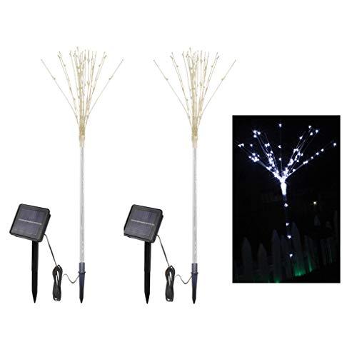 D Garten Rasen Licht Außen Teilt DIY Fee Nachtlampe 2 Arbeitsmodus Landschaft Dekoration Beleuchtung für Zaun Hof Weihnachten Geburtstag Hochzeit Partei / Packung 2,WhiteLight ()