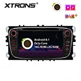 XTRONS 7 Pulgadas Android 8.1 Octa Core HD Digital MultiTouch Pantalla Coche estéreo GPS Radio DVD Player OBD2 TPMS WiFi para Ford Focus Mondeo