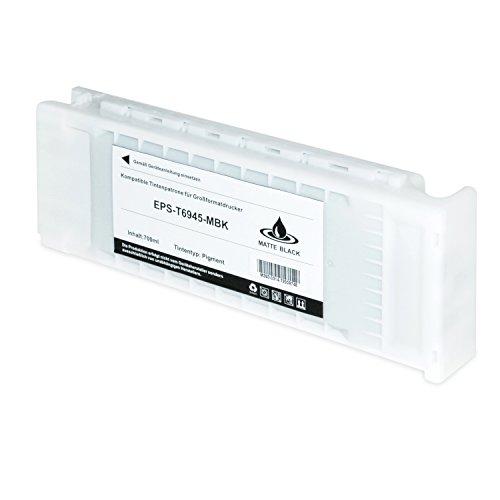 Preisvergleich Produktbild Tintenpatrone für Epson SureColor T6945 C13T694500 SC-T 3000 3200 5000 5200 7200 3270 5270 7270 D-PS POS Series W/O Stand- Matt Schwarz 700ml